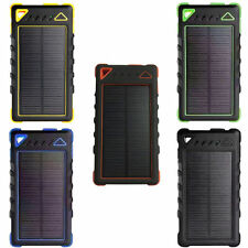 100000mAh Phone Solar Power Bank Backup External Battery Camping Charger