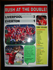 Liverpool 3 Everton 1 - 1986 FA Cup final - framed print
