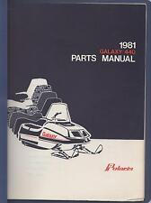 1981 POLARIS SNOWMOBILE GALAXY 440  PARTS MANUAL P/N 9910724 (858)