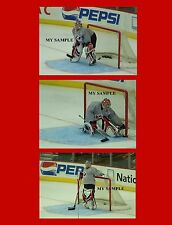 "3 Marty Brodeur 8"" x 10"" Photos 2004 World Cup NJ Devils Team Canada Goalie Mask"