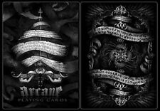 Arcane Black Playing Cards Deck with Seal Brand New Sealed