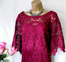 "****MONSOON BNWT ""TILIA BURGUNDY"" DRESS SIZE 16****"
