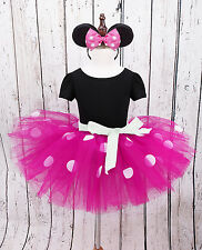 Toddler Baby Girls Minnie Mouse Polka Dots Tutu Skirt Halloween Party Dress 5T