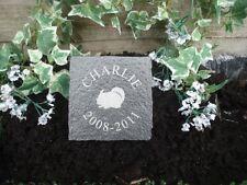Limestone Cobble Grave Marker Pet Chinchilla Memorial