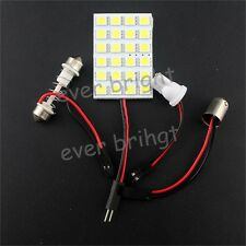 20X 24SMD 5050 LED Festoon Dome Light Panel Interior Lamp Bulb T10 BA9S DC 12V