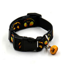 1* Funny Halloween Design Pet Dog Cat Collar Adjustable Collars with Small Bell