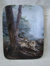 1996 Bradford Exchange Natures Harmony Rectangle Collector Plate Wolves 91529