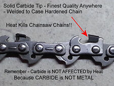 "*SOLID Carbide* Chainsaw Chain 14"" 3/8"" 0.050 50 Link 91 fits STIHL® SEE VIDEO"