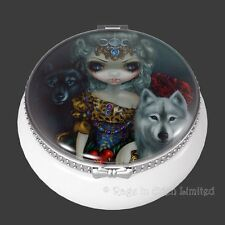LOUP GAROU: LA GRANDE PRETRESSE Wolf Art Trinket Box By Jasmine Becket-Griffith