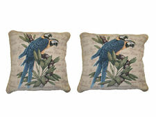 DaDa Bedding Parrot Love Animal Bird Print Square Pillow Cushion Cover 2PCs 18""