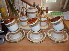 16 Piece Legle Porcelain d'Art LIMOGES Demitasse Set - Gold Encrusted