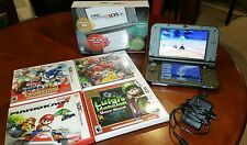 Nintendo New 3DS XL Black Handheld System W/games and memory