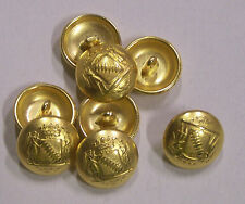 8pc 18mm Crusader Inspired Gold Metal Military Blazer Button   2088