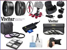 Pro Hi-Def Super Deluxe Accessory Kit For Panasonic Lumix DMC-FZ300 DMC-FZ200