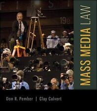 Mass Media Law 19th Edition by Don Pember Clay Calvert 2014 Paperback GET ASAP