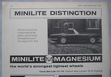 1968 Minilite Magnesium wheels Original advert No.2