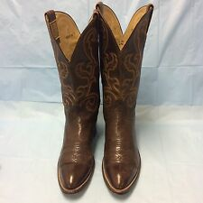 Hondo El Paso Cowboy Boots Brown Men's Size 10 B Pre-owned 1985 Vintage