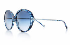BNIB TIFFANY & CO* TF4060 JAZZ BLUE HAVANA ROUND CRYSTAL SUNGLASSES *RRP £305*