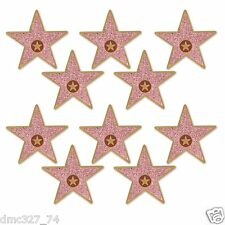 """10 HOLLYWOOD Awards Night Party Decorations Mini STAR Walk of Fame CUTOUTS 5"""""""