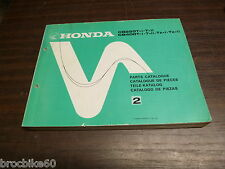 PARTS LIST HONDA CB 250 400 T1 T2 TZ TII  1978-  catalogue de pieces détachées
