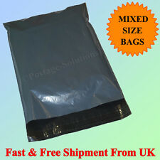 25 Postage Grey Strong Mailing & Packaging Postal Bags Mixed 14x21 & 17x24 Cheap