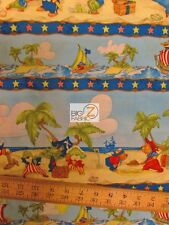 "TREASURE BAY PIRATES BY SOUTH SEA IMPORTS 100% COTTON FABRIC 45"" BY YARD FH-1146"