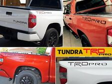 SET OF 2 TRD PRO BLACK LETTERS FOR TOYOTA TUNDRA 2014 2015 2016 NOT DECALS