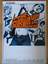 THE SUBWAYS 2015 TOUR   -  orig.Concert Poster  --  Konzert Plakat   NEU