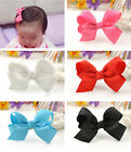Chic Hot Alligator Clips Baby Girl Grosgrain Ribbon Flower Bow Hair Clip Pin