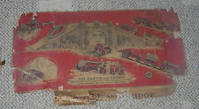 MARX  MAR TOYS  CASTLE AND BRIDGE SET  CARDBOARD  C. 1940   WITH BOX PANELS