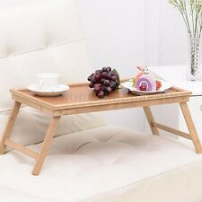 Foldable Wooden Bed Tray Laptop Desk Dining Tea Serving Portable Table Stand