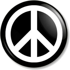 "Peace Symbol (1) 25mm 1"" Pin Button Badge Pacifist Ban the Bomb Sign Hippie Love"