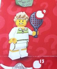 Lego 8831 Series 7 #9 Male TENNIS ACE player figure Minifigure New Sealed Pack