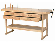 Wood Workbench Heavy Duty Vise Table Harbor Freight Workshop Drawers Garage NEW