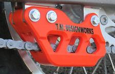 Ktm 85 105cc Trasero Cadena guía de bloque Tm Designworks cuerpo Sólido Naranja. - kt85