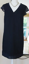 M&S LIMITED EDITION NAVY SHIFT DRESS - SIZE 10 BNWT