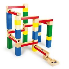 MARBLE RUN wooden blocks spatial thinking colourful tracks high quality NEW