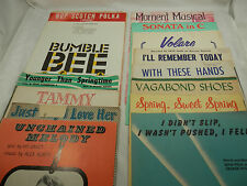 15 Piece Lot of Vintage Sheet Music BUMBLE BEE, VOLARE, TAMMY, POLKA & More