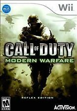 Call of Duty: Modern Warfare - Reflex Edition (Wii, 2009) Complete **READ**