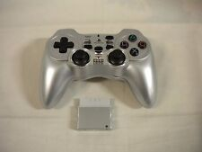 PlayStation2 -- Wireless Controller Anasin2 Turbo -- Silver PS2 JAPAN GAME 47321
