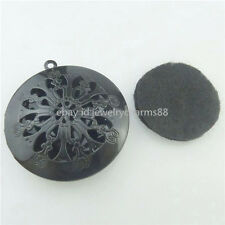 5PCS Black 30mm Pad Flower Locket Aromatherapy Fragrance Essential Oil Diffuser