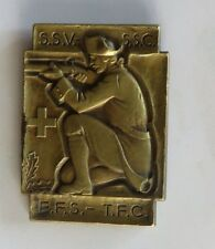 VINTAGE SWISS MILITARY MEDAL SSV-SSC-EFS-TFC-SOLDIER WITH RIFLE CROSS MARK RARE