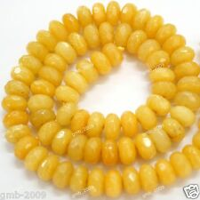 """Rare 5x8mm Faceted gemstone yellow citrine loose beads 15"""""""