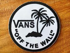 Vans off the Wall Skateboard Black & White Iron On Patch