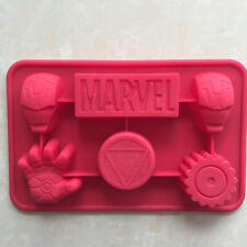 Cute 1pcs Ironman Marvel Shape Silicone Cake Mold Budding Jelly Moulds Soap Mold