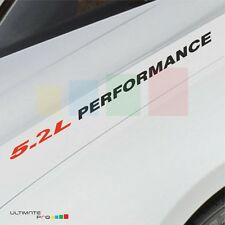 5.2L PERFORMANCE Decal sticker KIT for Lamborghini Gallardo Huracan light carbon