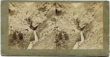 Stereophoto. Kosaken ?? im Gebirge um 1880