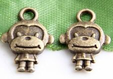 Free Ship 126Pcs Bronze Plated Monkey Charms Pendant 15x11mm