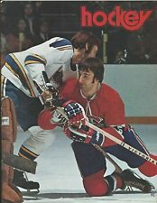 1974 NHL HOCKEY PROGRAM LOS ANGELES KINGS VS MONTREAL CANADIENS
