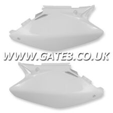 HONDA CR250 CR 250 2002-2007 WHITE SIDE PANELS NUMBER BOARDS MOTOCROSS PLASTICS